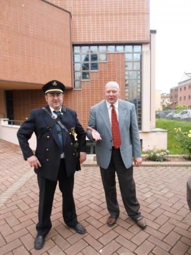 Presidente Giuseppe Bresciani con Luciano Perfetti
